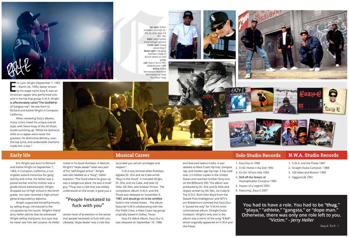 Eazy-E Magazine Spread Youth Market Article Content